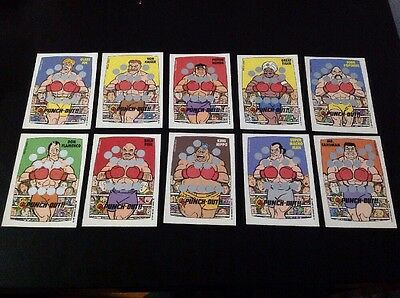 1989 O-pee-chee Nintendo Punch-out Scratch Off Cards
