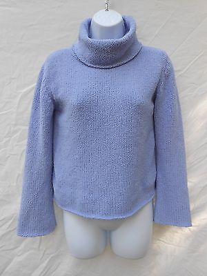 VTG 1990s fuzzy blue pullover sweater by Gap // Jrs XXL 14-16 cowl neck top
