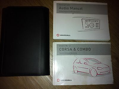 Vauxhall Corsa C And  Combo Van  Owners Manual / Handbook / Wallet 2001 - 2006