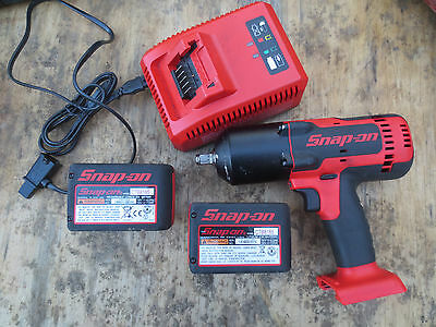 """Snap on Tools 1/2"""" 18V Lithium Cordless Impact Socket Wrench CT8850 4.0 batterys"""