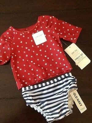 Old navy by Gap baby girl rash guard swimming suit swimsuit size 0 3 months NWT