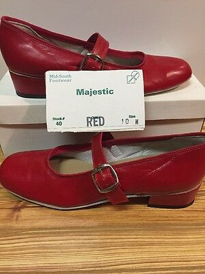 Majestic Size 10 M Womens Square Dance Shoes, Red