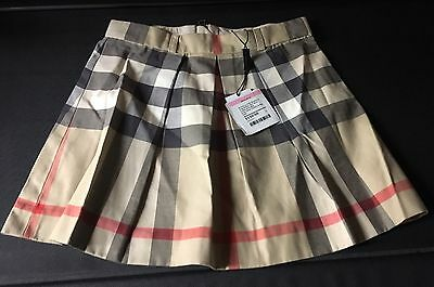 BURBERRY CHILDREN Girls New Classic Check Skirt Size 8Y Authentic