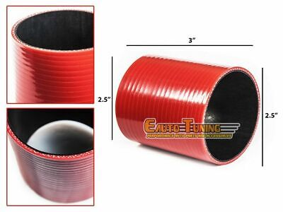 "2.5"" Silicone Hose/Intercooler Pipe Straight Coupler RED For Jeep/Land Rover"