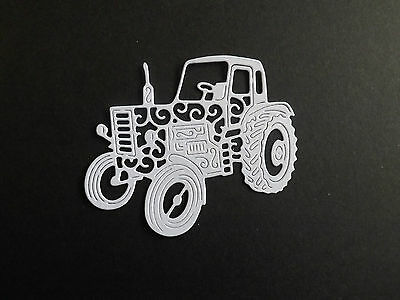 10 Tattered Lace die cuts VINTAGE TRACTOR