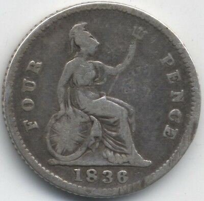 1836 William IIII Silver Four Pence***Collectors***