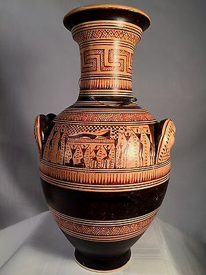 GREEK BLACK-FIGURE CERAMIC VASE MUSEUM REPRODUCTION HAND MADE IN GREECE No. 616