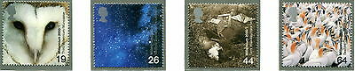 2000 GB SG 2125-2128 Millennium. 'Above and Beyond'. Owl, Seabird, Astronomy