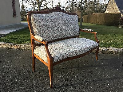 Vintage French Louis Tapestry Style 2 Seater Sofa