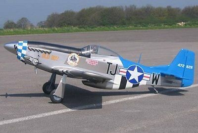 "Scale P51 Mustang  98""  Giant Scale RC Model AIrplane Printed Plans"