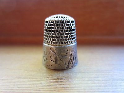 Simons Brothers VTG Sterling Silver Signed Stunning Unique Thimble Size 8=4 G