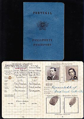 PORTUGAL, 1950 - Obsolete Reisepass/ Invalid Travel Document/ Passport - 9 Scans