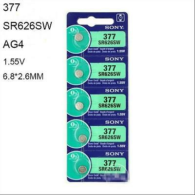 SR626SW watch battery 377 SR66 377A AG4 1.55V NEW  Brand SONY  Button Battery