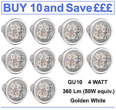Gu10 Led Bulbs (4W)   Pack Of 10
