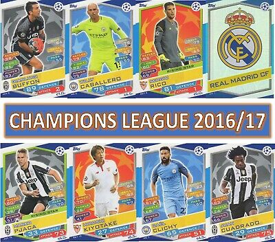 Topps Champions League Match Attax 2016 2017 16 17 Choose your card #199 - #396