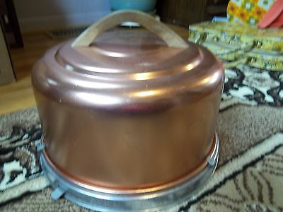 Copper Cake Carrier with Lid