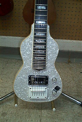 Dillion Non Pedal 6 String Lap Steel Guitar RETRO Mother of Pearl Finish