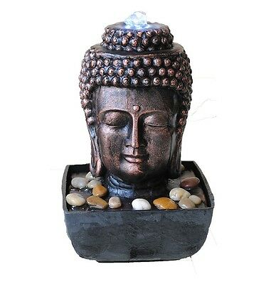 Buddha Head, Small indoor table top Water fountain