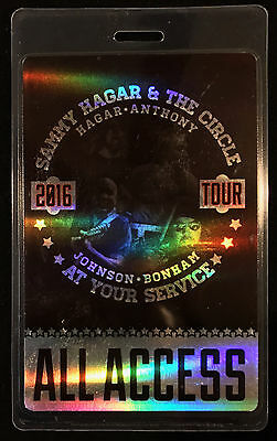 Sammy Hagar & The Circle - All Access Tour Laminate Backstage Pass - 2016 Tour