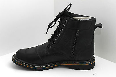 RST Roadster Classic Black Leather Motorcycle Boots Riding Shoes Vintage Retro