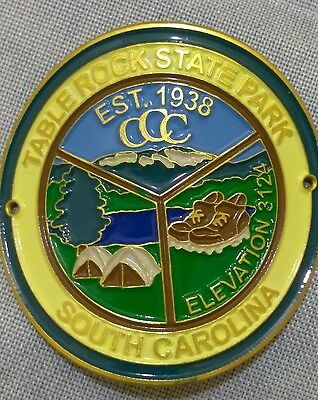 Table Rock State Park Hiking Staff Stick Medallion Souvenir South Carolina
