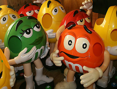 M&M Candy Bag Store Candy Display With Wheels THE RARE Green MARKED DOWN