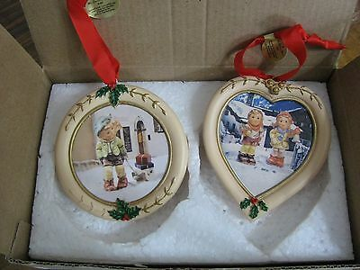 Collectible M. J. Hummel Christmas Ornaments (2)