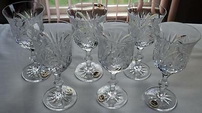 Vintage  Eleanor by American Cut Corp Crystal Water Coblet