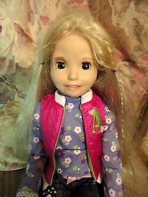 """Amazing Allysen Ally Interactive Talking Doll 2006 Playmates 20"""" blonde"""