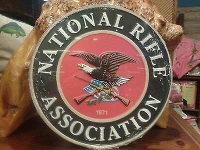 National Rifle Association Embossed Metal Decor With Raised Letters