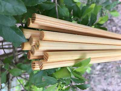 12Pcs Handmade Chinese Pine Wood Shafts No Nock For DIY Wood Arrow 31.5Inches