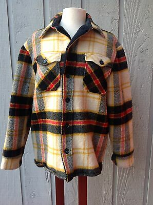 Vintage WOOLRICH  Plaid Wool Hunting Coat  WPL 6635 Size Large