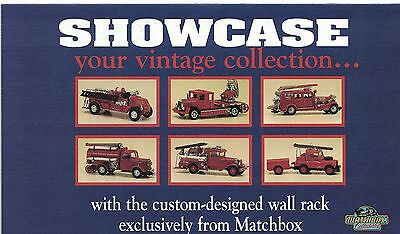 "MATCHBOX COLLECTIBLES ""THE LADDER STYLE DISPLAY RACK FOR FIRE ENGINE"" Brochure"
