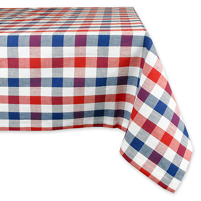 """DII 100% Cotton, Machine Washable, Dinner, Summer & Picnic Tablecloth, 60 x 120"""""""