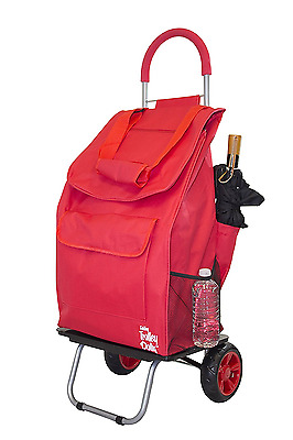 dbest products Bigger Trolley Dolly Cart, Red