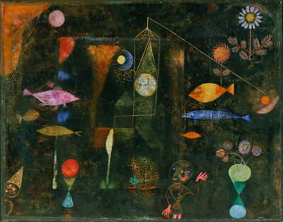 Paul Klee Fish Magic Giclee Canvas Print Paintings Poster Reproduction Copy