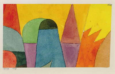 Paul Klee With the Mauve Triangle Giclee Canvas Print Paintings Poster Reproduct