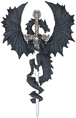 StealStreet SS-G-71221 Dragon Collection with Sword Collectible Fantasy Decorati