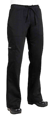 Chef Works CPWO-BLK Women's Cargo Chef Pants, Black, Size S