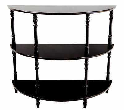 Frenchi Home Furnishing MH306 Half Moon Console Table, Espresso