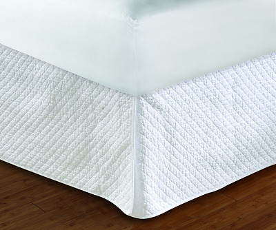 Greenland Home Diamond White Bed Skirt 18-Inch, Quilted (GL-1303HK)