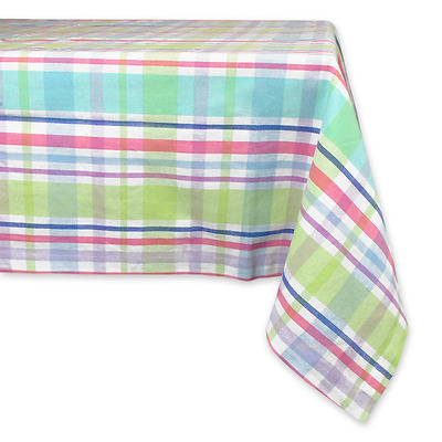 DII 100% Cotton, Machine Washable, Easter, Dinner, Summer & Picnic Tablecloth, 6