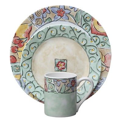 Corelle Impressions 16-Piece Dinnerware Set, Watercolors, Service for 4