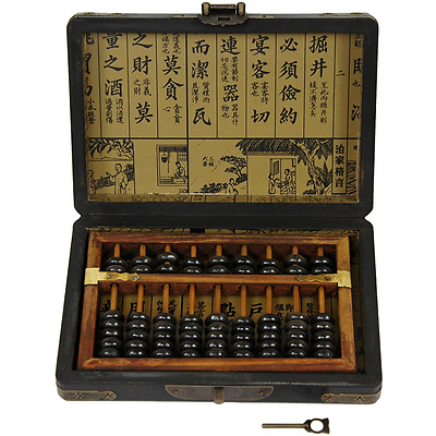 Oriental Furniture Black Lacquer Abacus