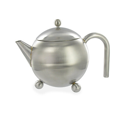 G&H Tea Services Henley 27-Ounce Stainless Steel Loose Teapot Matte Finish