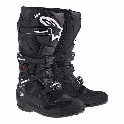 Alpinestars Tech 7 Motocross MX Off Road Motorcycle Boots - Black