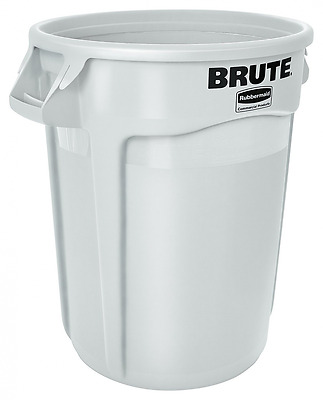 """Rubbermaid Commercial Brute LLDPE 20-Gallon Trash Can without Lid, Legend """"Brute"""