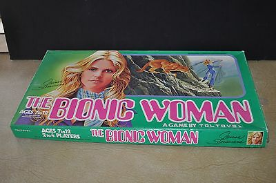 Vintage 1976 THE BIONIC WOMAN Board Game