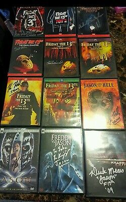 friday the 13th signed dvd collection. every jason. Hodder Brooker white dash