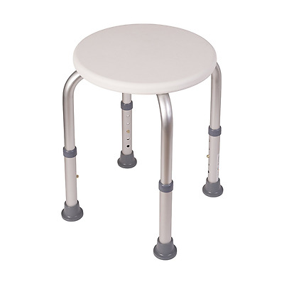 HealthSmart Compact Adjustable Shower Stool, White